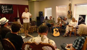 Platinum songwriter Jim Photoglo facilitates an ASG Workshop on performance in August 2011.