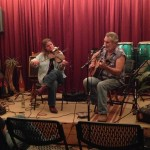 Will Callery performing with Jeanne Kyser at Friday Night Live at The Mockingbird Cafe.